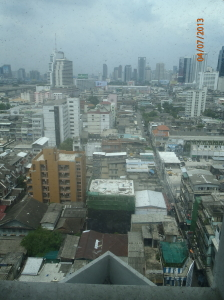 View from our hotel at the Indra Regent.