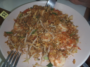 D.I.Y Phad Thai at SITCA. Delicious and the recipe 'works' at home in my own kitchen too!