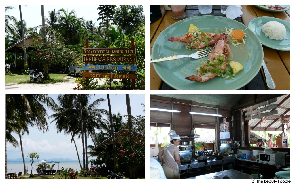 The Beach Restaurant (South end of Koh Samui). Their sea prawns rocked my world!