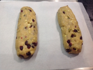 Divide the dough in two and shape into two logs
