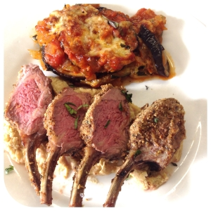 lamb racks with dukkah crust