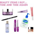 Beauty items i'd buy again