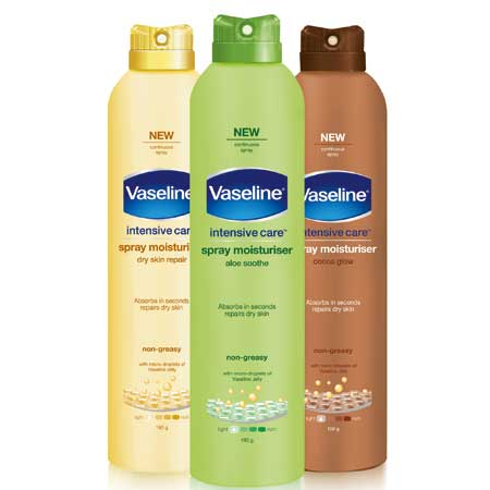 vaseline spray moisturiser review