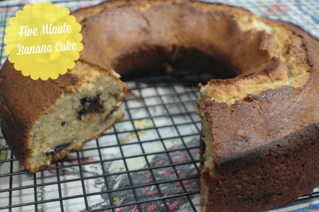 five minute banana cake