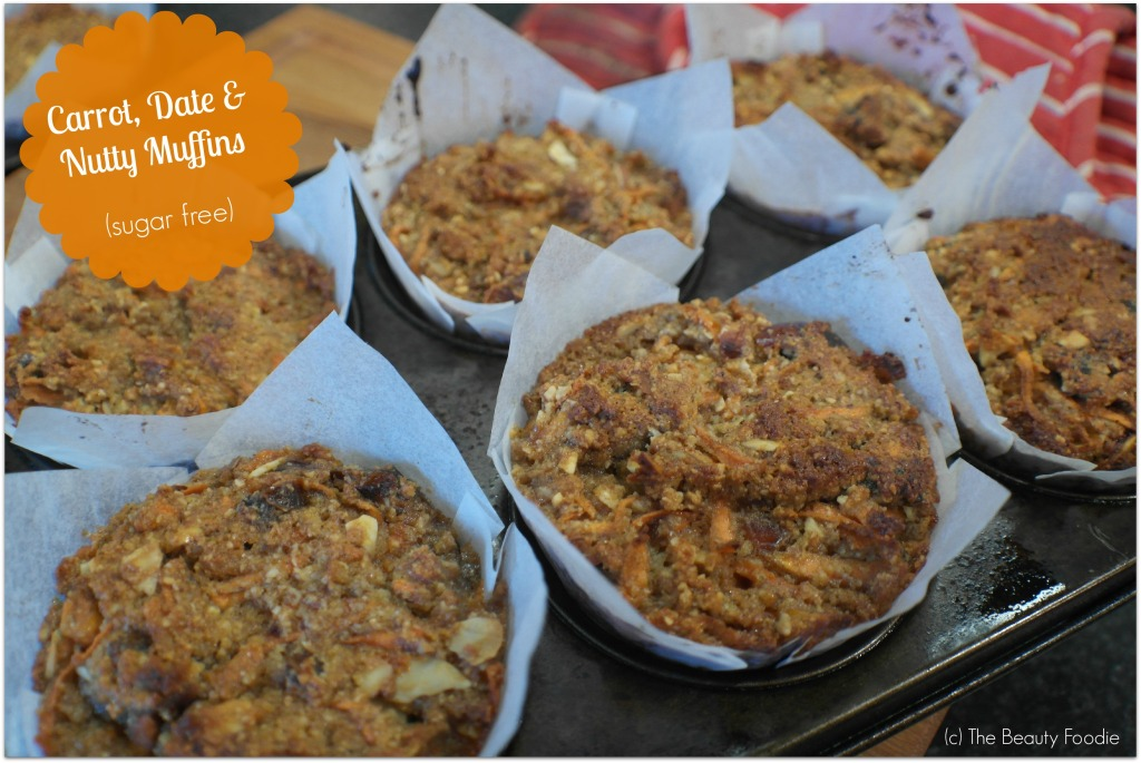 Carrot Date and Nutty Muffins