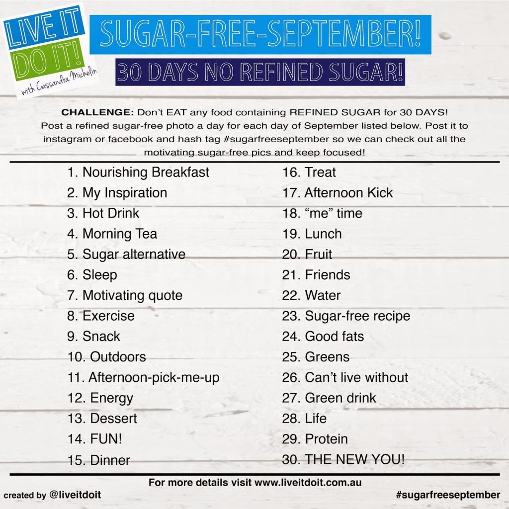 Sugar free september- 20142