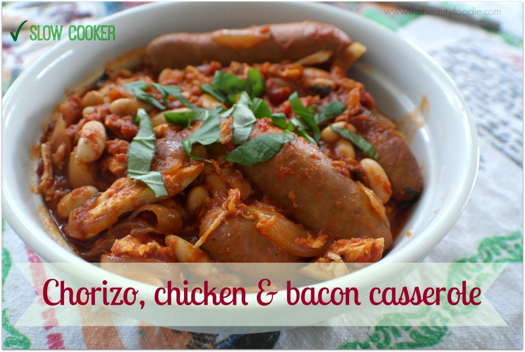 chorizo chicken and bacon slow cooker