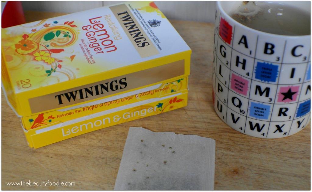 Twinings Lemon and ginger tea