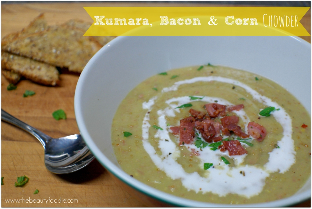 kumara bacon and corn chowder recipe