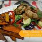 thai chicken patties with peanut satay sauce