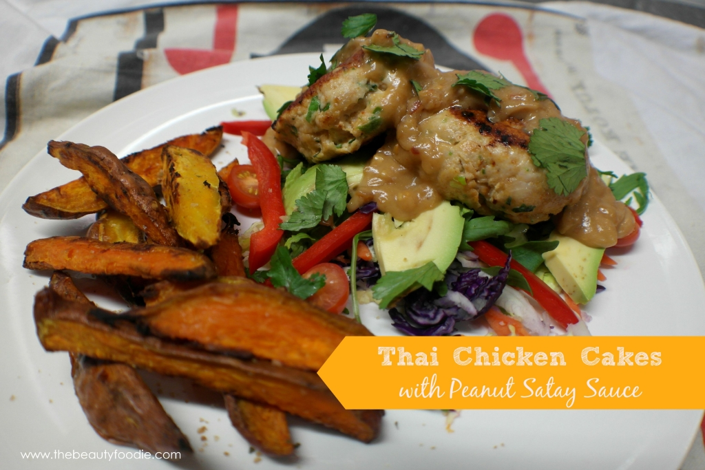 thai chicken cakes with peanut satay sauce