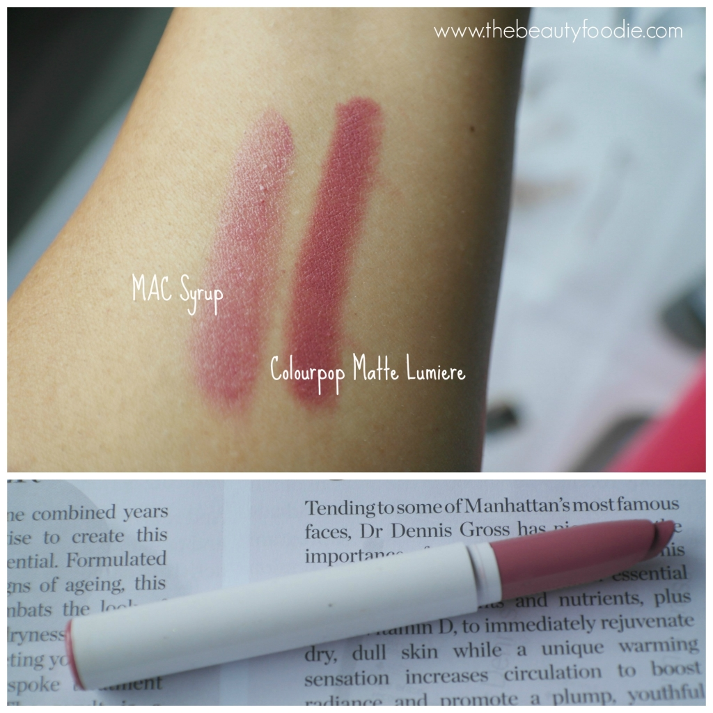 Colourpop lumiere swatch
