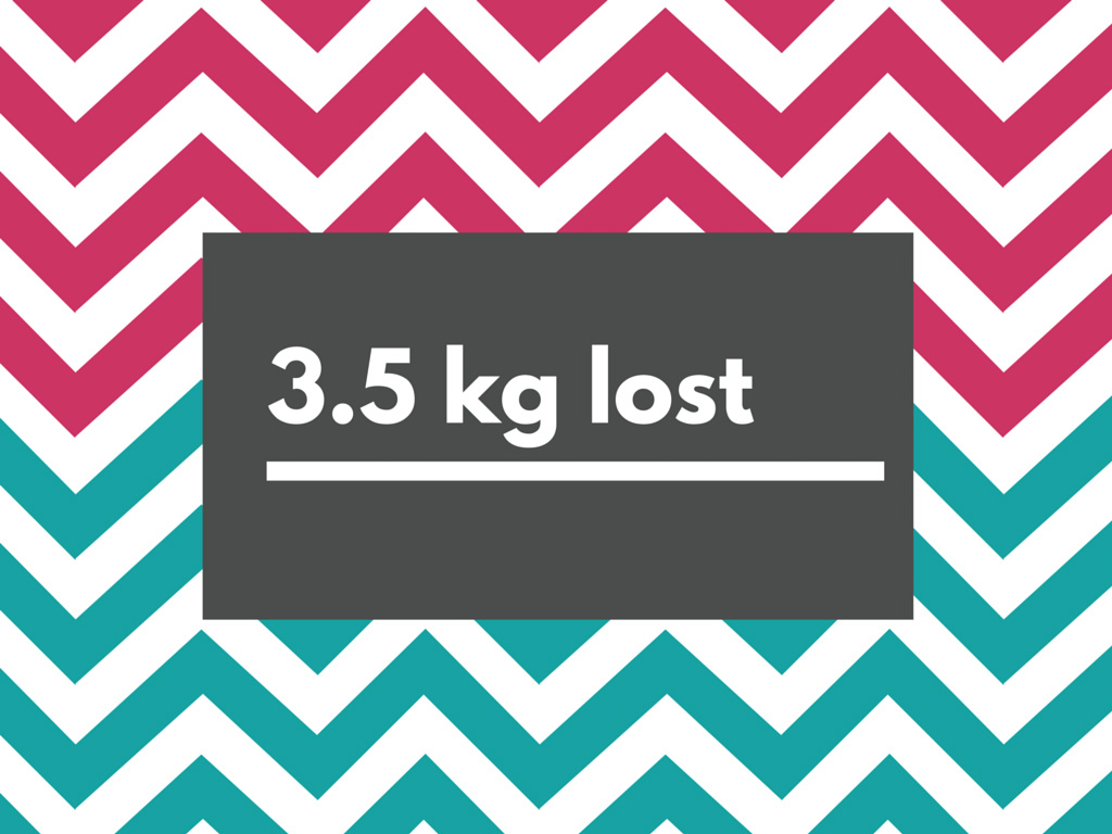 3.5kg lost
