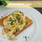 scrambled eggs with cumin feta and mint